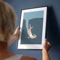 Woman Swimming Art Print