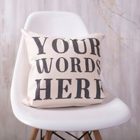 Personalised Quote Cushion, Black/Red/Green