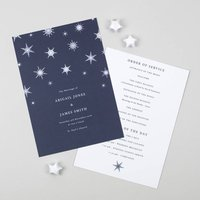 Winter Wedding Order Of The Day Card