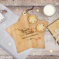 Personalised Treats For Santa Star Platter