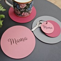 Personalised Engraved Leather Coaster