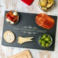 Personalised Christmas Slate Serving Platter