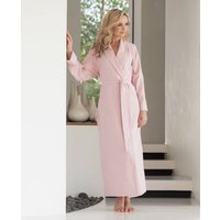 Womens Powder Pink Two Fold Flannel Robe