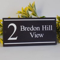 Personalised Cotswold Collection Slate Signs, Cream/White