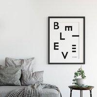 'Believe In Yourself' Modern Typographic Print