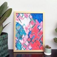 'Medina' Colourful Abstract Art Print