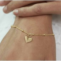 Personalised Heart Charm Bracelet Silver, Gold Or Rose, Silver