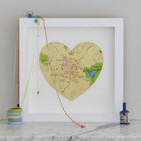 Las Vegas Map Heart Print