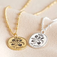 Lucky Sixpence Pendant Necklace