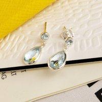 Sterling Silver Two Drop Earrings, Silver