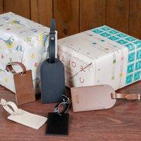 Personalised Leather Keepsake Gift Tag