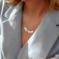 Family Birthstone Layered Heart Necklace