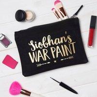 Personalised War Paint Make Up Bag
