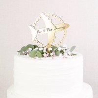 Wedding Cake Topper Travel Theme