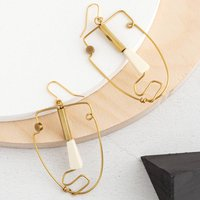 Waldo Statement Hand Formed Abstract Face Earrings