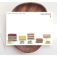 Cakes Personalised Note Cards With Envelopes