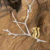 Squirrel On A Branch Pendant
