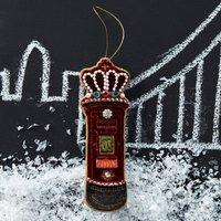 Jewelled Post Box Christmas Decoration