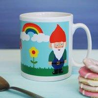 Retro Gnome And Rainbow Mug