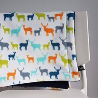 Deer Fleece Baby Blanket