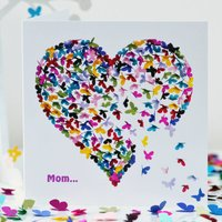 Butterfly Mom Birthday Card/ Mom Mother's Day Card