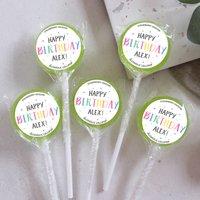 Personalised Sprinkles Birthday Lollipops