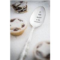 Personalised Vintage Silver Plated Dessert Spoon