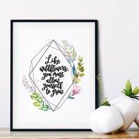 Like Wildflowers Print