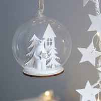 Polar Bear Snowscape Bauble