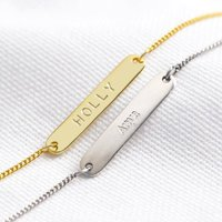Personalised Sterling Silver ID Bracelet, Silver