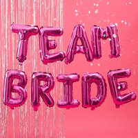Hot Pink Team Bride Hen Party Balloon Bunting