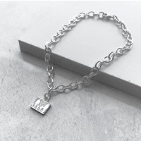 Personalised Sterling Silver Family Bracelet, Silver