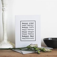 'Happy Anniversary' Petite Card