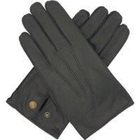 Norton. Men's Warm Lined Leather Gloves, Black/Brown/Tan