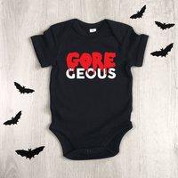 Gore Geous Dripping Text Halloween Babygrow