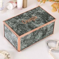 Personalised Rose Copper Marbled Jewellery Box