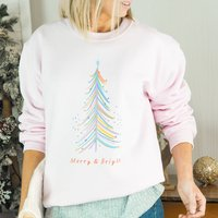 Merry And Bright Christmas Jumper