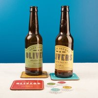 Personalised Home Brew Branding Kit, Yellow/Red/Green