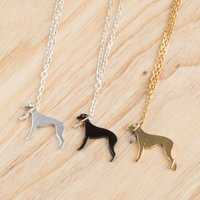 Silver Whippet Necklace | Silver Greyhound Necklace, Silver