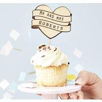 Personalised Wedding Cupcake Topper