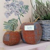 Harris Tweed Checked Wool Autumn Pumpkins