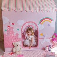 Large Childrens Princess Castle And Unicorn Playhouse