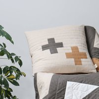 Plus Two Hopton Clay Quilted Cushion