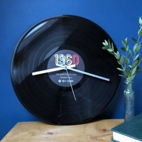Personalised Special Year Spotify Vinyl Record Clock