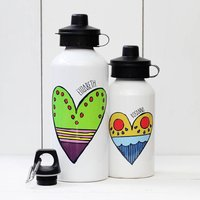Personalised Heart Water Bottle