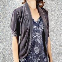 Vintage Style Mink Silk Velvet Jacket