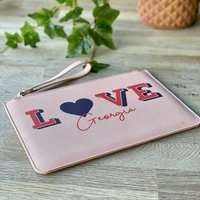 Personalised Love Pink Pouch