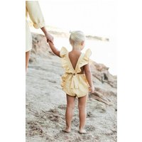 Personalised Lillie Linen Baby Romper