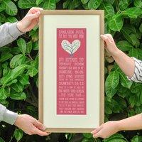 60th Birthday Milestone Personalised Print, Teal/Sage/Claret