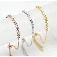 Adelia Diamante Personalised Bracelet, Rose Gold/Rose/Gold